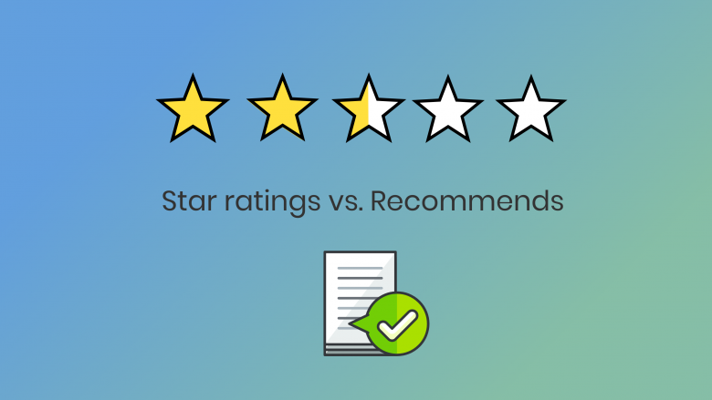 Learn how our rating system is different from the standard star ratings for script feedback. Star ratings versus recommends.